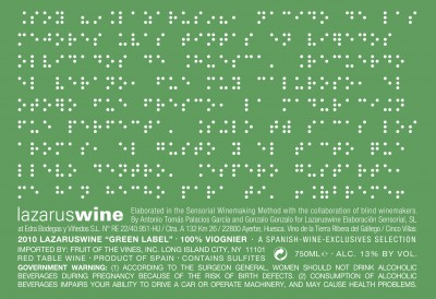 "Lazarus Wine ""Green Label"" wrap-around label"