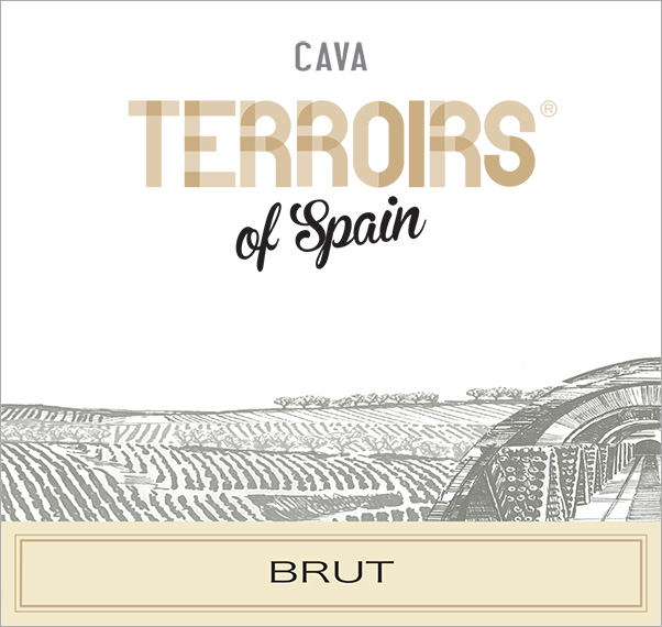 Terroirs of Spain Cava Brut Label