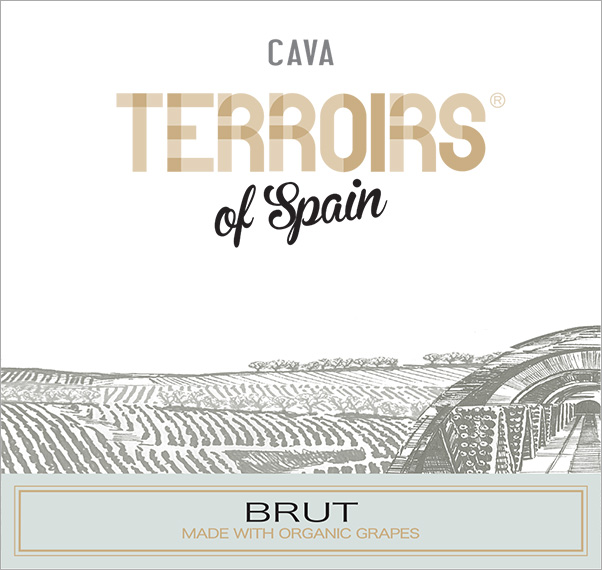 Terroirs of Spain Cava Brut Organic Label
