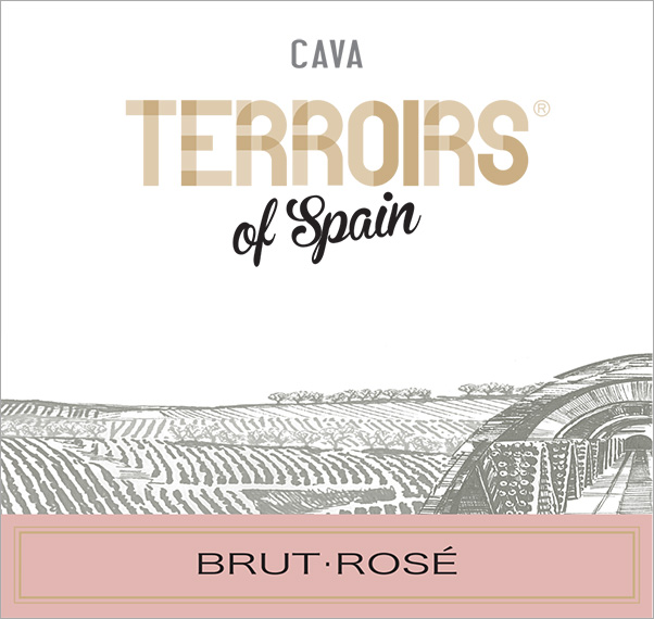 Terroirs of Spain Cava Brut Rosé Label