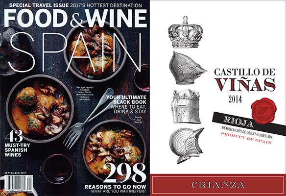"Castillo de Viñas Crianzaが""Top 12 Value""に抜擢 in FOOD&WINE Magazine"