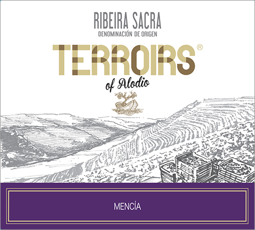 Terroirs of Alodio Ribeira Sacra Mencía label