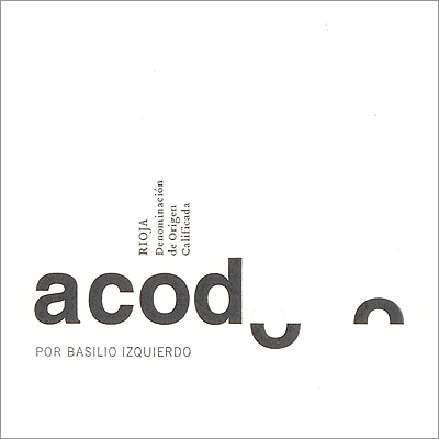 "Basilio Izquierdo ""Acodo"" White 2010"