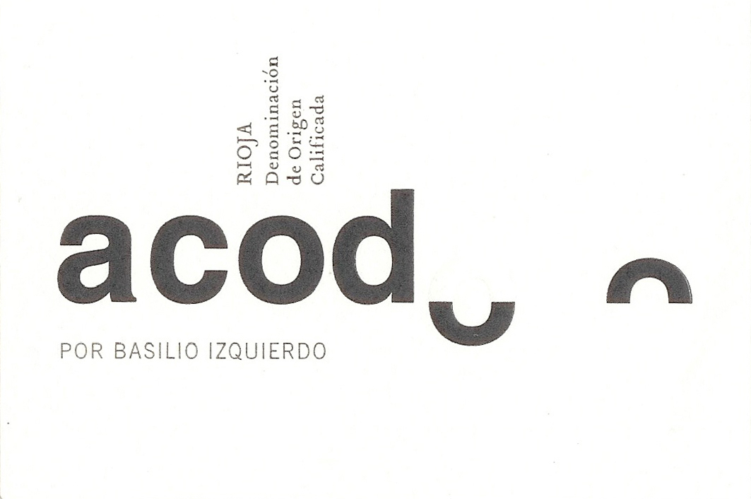 Basilio Izquierdo Acodo label