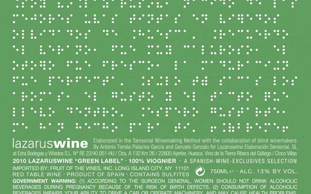 "Lazarus Wine ""Green Label"" Viognier White 2010"