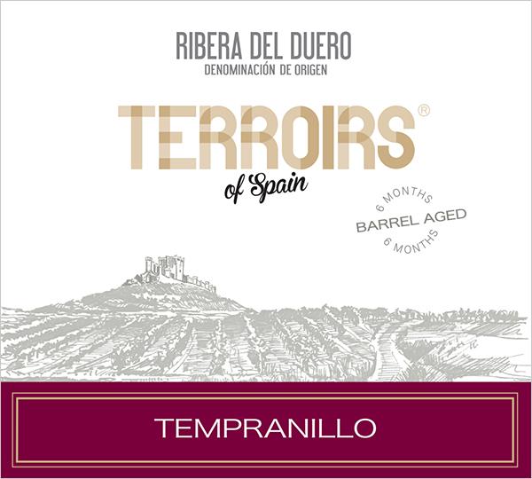 """Terroirs of Spain """"Barrel Aged"""" Ribera del Duero Tempranillo 2015"""